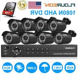 1080P 3000TVL Security Outdoor 8CH 1080N AHD DVR Camera Home