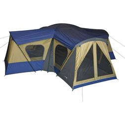 Ozark Trail 14-Person 1 - 4 Room Base Camp Tent with 4 Entra