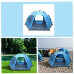 3-4 Person Automatic Pop Up Dome Tent Camping Hiking Waterpr