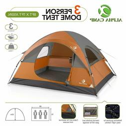 ALPHA CAMP 3 Person Camping Tent, Lightweight Backpacking Te