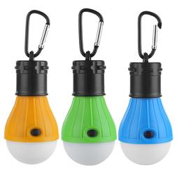 3pcs Outdoor Camping Waterproof Tent Light 3 Modes 3LED Lant