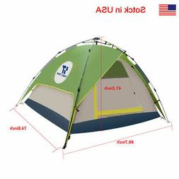 4-5 People Popup Camping Green Cream Tent Trap General Use W
