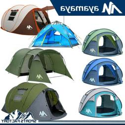 2-6 Person Outdoor Instant Pop Up Portable Tent Double Layer