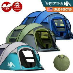 4-5 Person Pop Up Camping Tent Instant Dome Automatic Family