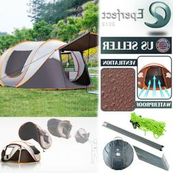 4- 6 Person Instant Pop Up Family Large Camping Tent Waterpr