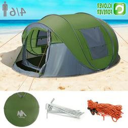 4-6 Person Instant Pop Up Tent Family Waterproof Backpacking