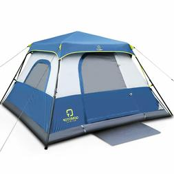QOMOTOP 4 People Fast 60 Seconds Easy Set Up Instant Cabin T