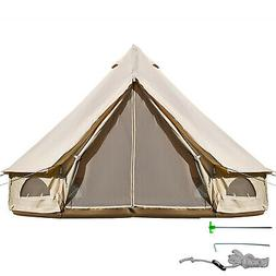 4 Season 3 M/9.8FT Waterproof Cotton Canvas Bell Tent with Z