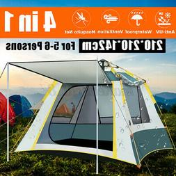 5~6 People Automatic Instant Pop Up Tent Waterproof Camping