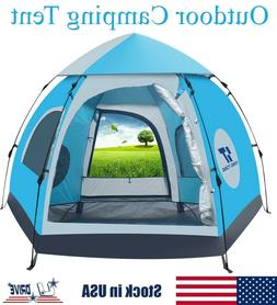 5-6 People Waterproof Instant Pop Up Tent Automatic Outdoor