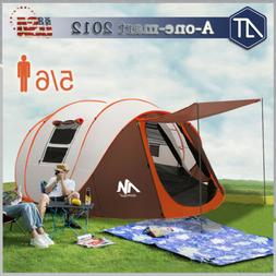 5-6 Person Family Camping Tent Instant Pop Up Large Waterpro