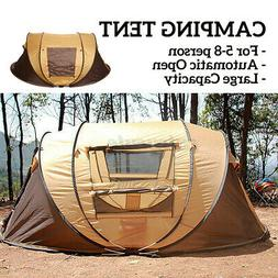 5-8 Person Automatic Pop Up Waterproof Camping Tent Hiking H