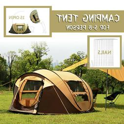 5-8 Person Waterproof Large Pop Up Automatic Camping Tent Fa