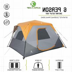 ALPHA CAMP 6 Person Camping Tent Easy Setup Cabin with Foot