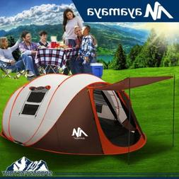 6 Person Instant Pop Up Camping Tent Waterproof Family Hikin