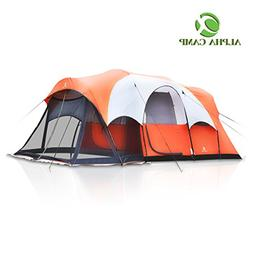 ALPHA CAMP 6 Person Tent with Screen Room Cabin Tent Design