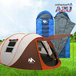 6 Person Waterproof Instant Family Camping Tent Ultralight E