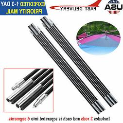 7mm Fiberglass Tent Pole Kit Multi Sections Outdoor Camping