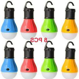 8pcs LED Bulbs Outdoor Emergency Tent Fishing Hanging Lanter