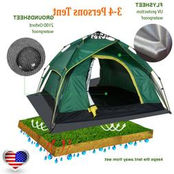 Automatic Quick Open Double Layer Hydraulic Camping Tent 3-4
