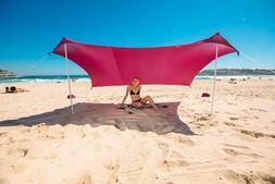 Beach Tent Sandbag Anchors 2 FREE Poles UPF50 Lycra Fabric S