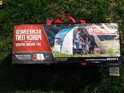 Brand New Coleman 6 Person Cabin Tent w/ Screened Porch 13'