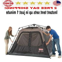 Coleman Cabin Tent with Instant Setup camping 4 person  set