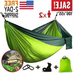 Camping Hammock Double Two 2 Person Parachute Tent Hiking Tr