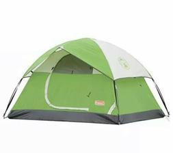 Camping Tent | 4 Person Sundome Dome Tent, Green