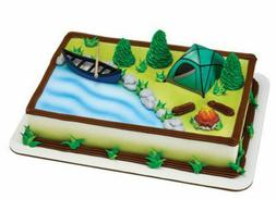 Camping Tent Canoe Camp Boat Fire Scouts cake decoration Dec