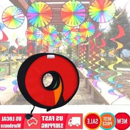 Camping Tent Foldable Rainbow Spiral Windmill Wind Spinner H