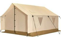 Canvas Wall Tent 10'x12' w/Aluminum Frame & Fire Retardant f