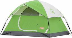 Coleman Sundome Tent for Camping Waterproof 4 Person, Easy S