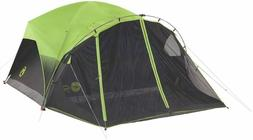 Coleman Dome Tent 6 Person Dark Room Camping Bug Screen