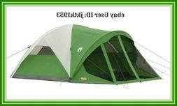 Coleman Evanston Dome Camping 6 Person 10' x 9' Tent w/ Scre