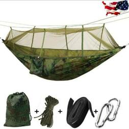 double camping hammock with mosquito net nylon