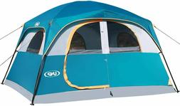 Double Layer Family Camping Tents 6 Person Waterproof Windpr