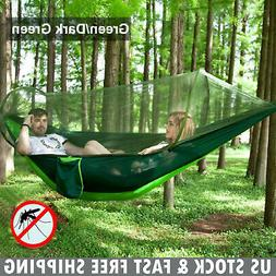 Double Person Camping Tent Hanging Hammock Bed with Mosquito