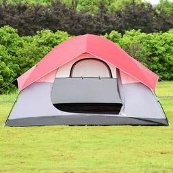 Durable 6 People Pop Up Easy Set-up Camping Tent with Bag -