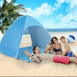 Easy Pop Up Waterproof UV Beach Sun Shelter Tent Portable Ou