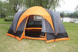 Elite Double layer Outdoor 8 Person Camping Cabin Family Ten
