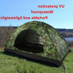Family Camouflage Tent Waterproof UV protection Camping 4 Se
