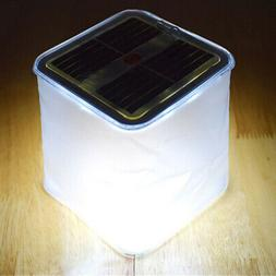 Foldable LED Solar Energy Inflatable Tent Camping Light Outd
