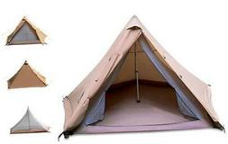 GEERTOP Teepee Camping Tent 4-6 Person Double Layer Family T