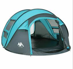 Instant Pop Up 4-5 Person Camping Tent Waterproof Family Bac