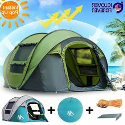Instant Pop Up Tent 4-5 Person Family Waterproof Backpacking