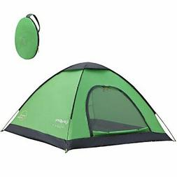 KingCamp 2-3 Person Automatic Pop up Camping Tent, 3-Season