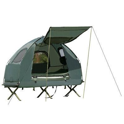 1-Person Compact Portable Pop-Up Tent/Camping Cot with Air M