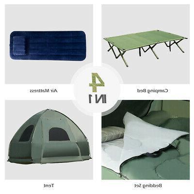 1-Person Compact Pop-Up Tent/Camping Mattress & Sleeping
