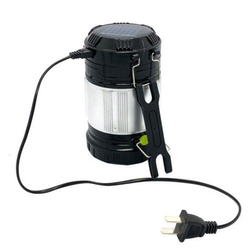 Solar Portable Flashlight Rechargeable Lantern Bright Tent